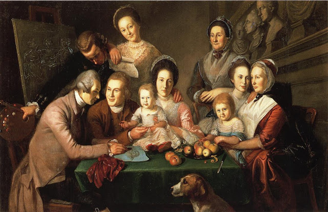 Large colonial family